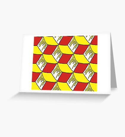 Dripping Yellow Sym Greeting Card