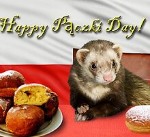 Paczki Day Ferret by jkartlife
