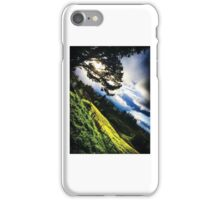 green hills, cool clouds iPhone Case/Skin