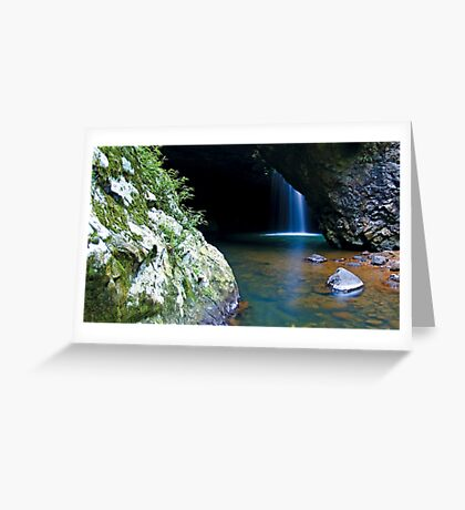 Natural Bridge Twilight Greeting Card