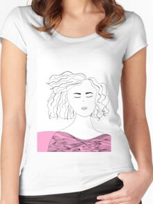 Messy hair II. Women's Fitted Scoop T-Shirt