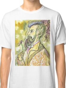 Gentleman with Flower Classic T-Shirt