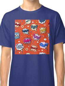 Comics Bubbles Seamless Pattern in Pop Art Style Classic T-Shirt