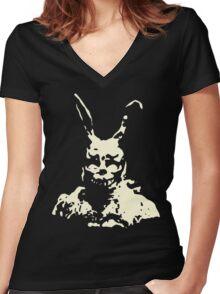 Frank - Donnie Darko Women's Fitted V-Neck T-Shirt