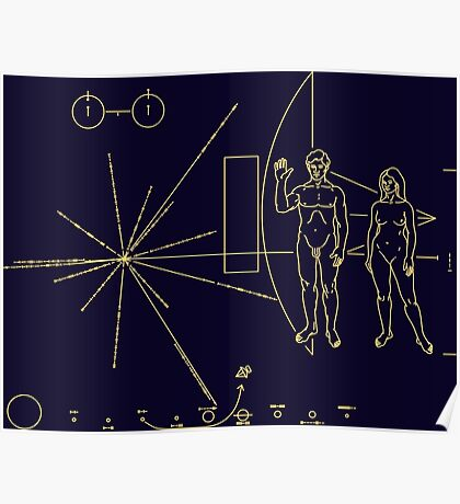 Space Message Poster