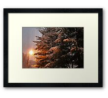 """A Snowy Evening in Knoxville"" (no. 7, from this series)... products Framed Print"