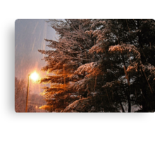 """""""A Snowy Evening in Knoxville"""" (no. 7, from this series)... products Canvas Print"""
