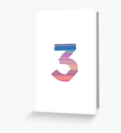 Chance The Rapper - 3 (White) Greeting Card