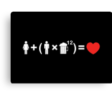 The Love Equation for Men Canvas Print
