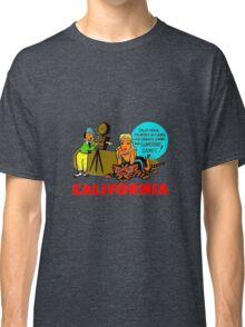California Glamorous Dames Vintage Travel Decal Classic T-Shirt