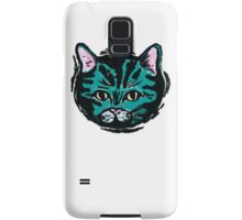 one very blue cat Samsung Galaxy Case/Skin