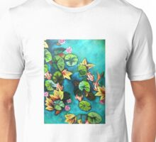Waterlillies and coi fish Unisex T-Shirt