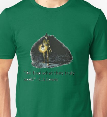 C.S Lewis Quote with Puddleglum Picture Unisex T-Shirt