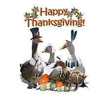 Thanksgiving Geese Photographic Print