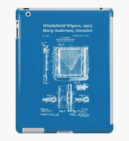 Mary Anderson - Windshield Wipers - Blueprint iPad Case/Skin