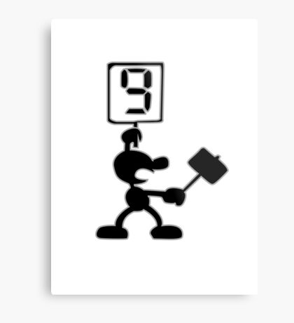 Game and Watch 9 Hammer Metal Print