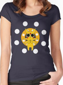 Pikachu's Trip - one circle Women's Fitted Scoop T-Shirt
