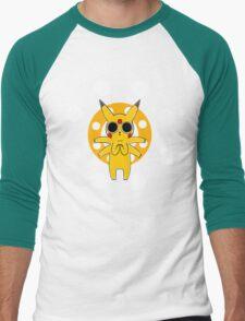 Pikachu's Trip - one circle Men's Baseball ¾ T-Shirt