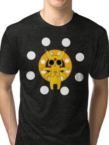 Pikachu's Trip - one circle Tri-blend T-Shirt
