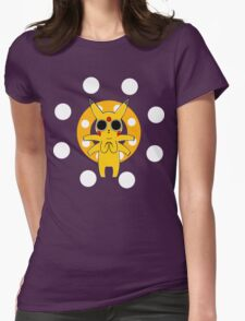 Pikachu's Trip - one circle Womens Fitted T-Shirt