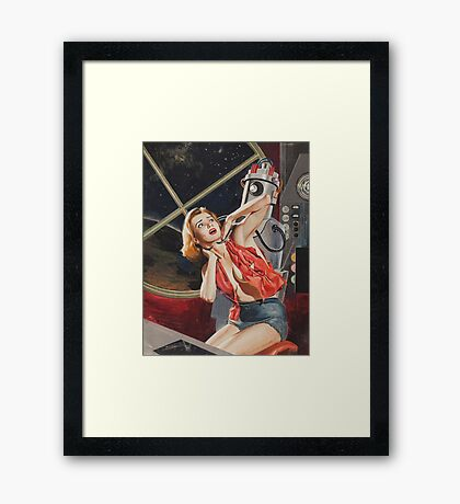 Attack of The Robots Framed Print