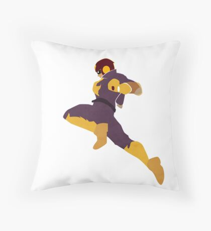 Captain Falcon Knee Throw Pillow