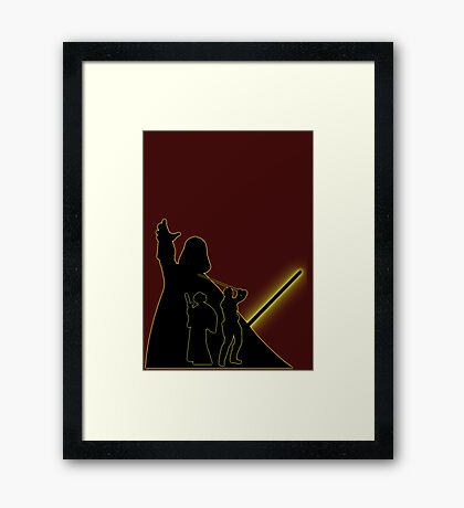 Star Wars Parenthood Framed Print