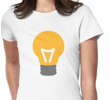 Bulb light Womens Fitted T-Shirt