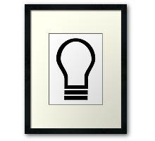 Bulb light symbol Framed Print