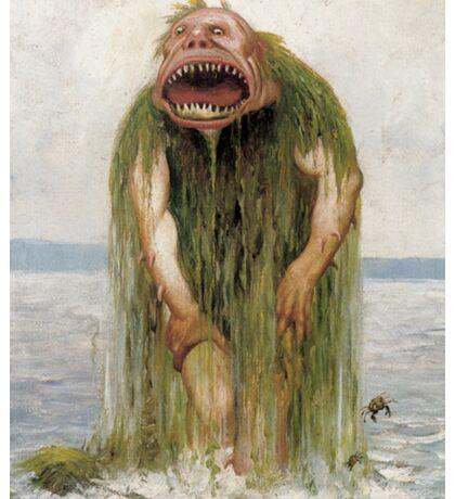 Nokken Monster in Seaweed  Sticker