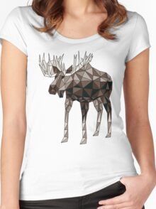 Geometric Moose- moose t shirt Women's Fitted Scoop T-Shirt