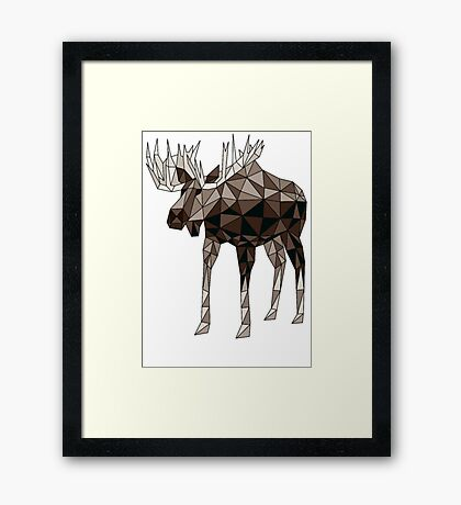 Geometric Moose- moose t shirt Framed Print
