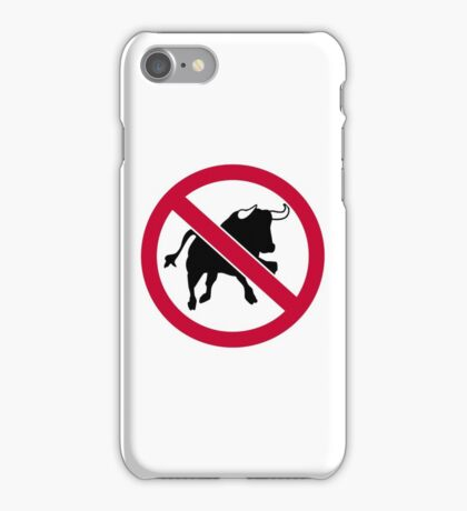 No bulls iPhone Case/Skin