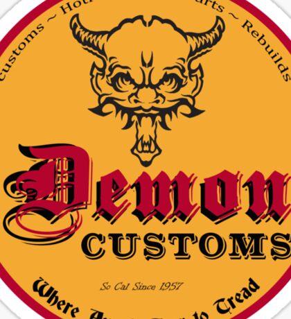 Demon Customs Hot Rod Sticker