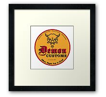 Demon Customs Hot Rod Framed Print