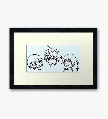 Sora, riku & kairi Framed Print