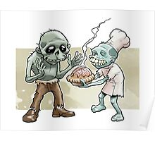 Zombies Share Pie Poster
