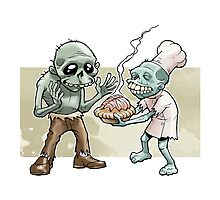 Zombies Share Pie Photographic Print