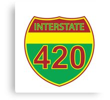 Interstate 420 Rasta Rastafarian Canvas Print