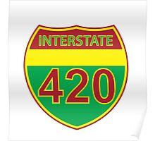 Interstate 420 Rasta Rastafarian Poster