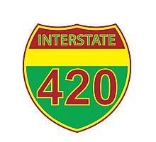 Interstate 420 Rasta Rastafarian Photographic Print