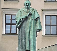 Statue of Josef Dietl, Wawel Hill, Poland by Margaret  Hyde