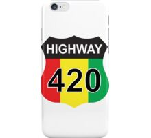 Highway 420 Rasta Rastafarian iPhone Case/Skin