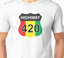 Highway 420 Rasta Rastafarian Unisex T-Shirt
