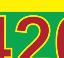 Interstate 420 Rasta Rastafarian Sticker