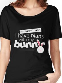 I have plans with my bunny cute design Women's Relaxed Fit T-Shirt