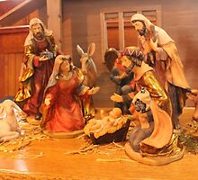 Church Nativity 3 by Kathy Rogers-Hartley