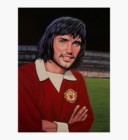 George Best Painting Photographic Print