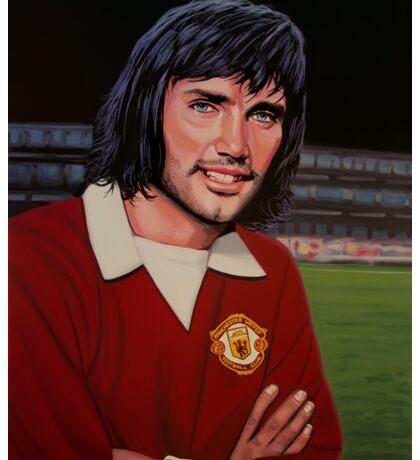 George Best Painting Sticker