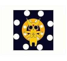 Pikachu's Trip - one circle Art Print
